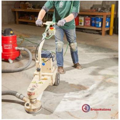 Grinding concrete floor high spots