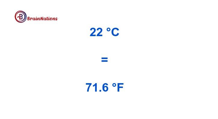 22 celsius to fahrenheit