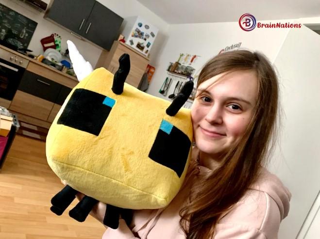 Minecraft bee plush