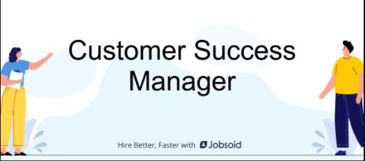 customer success manager jobs